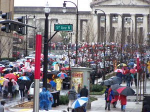 It was a long way to march to Legislative Plaza!